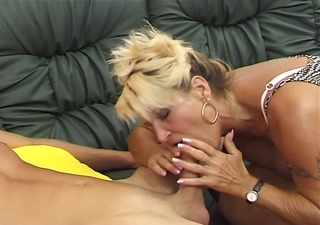 german bushy older is lascivious she is fucks and