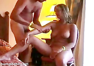 sexy mother i gives handjob while she is receives