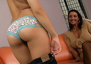 Hot strip show from hot mommy and her daughter